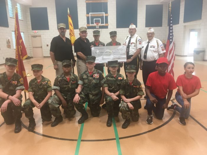 VFW Post 334 donates $4,000 to North Oakland County Young Marines program