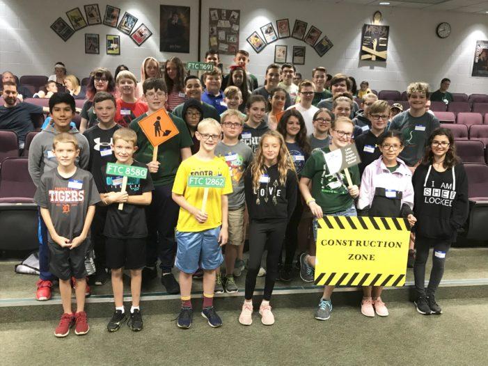 Middle schools robotics teams kickoff Skystone season