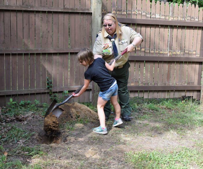 Cub Scouts bury time capsule