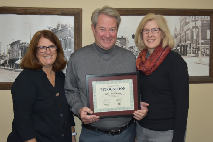 Lake Orion DDA honors The Review for its commitment to the community