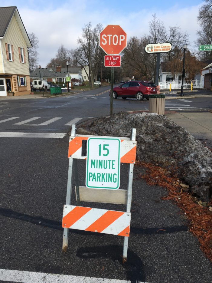 Village pilot tests 15-minute parking spots in downtown