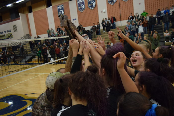 Dragon volleyball team moves on to state quarterfinals