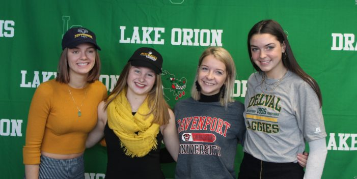 Dragon athletes sign letters of intent to play sports at college sports