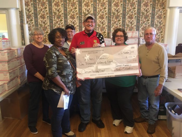 VFW post 334 aids in Christmas box program for oversea troops