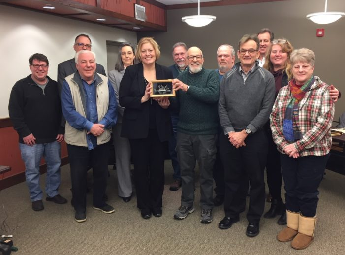 Paint Creek Trailways Commission honors former trail manager for 15 years of service
