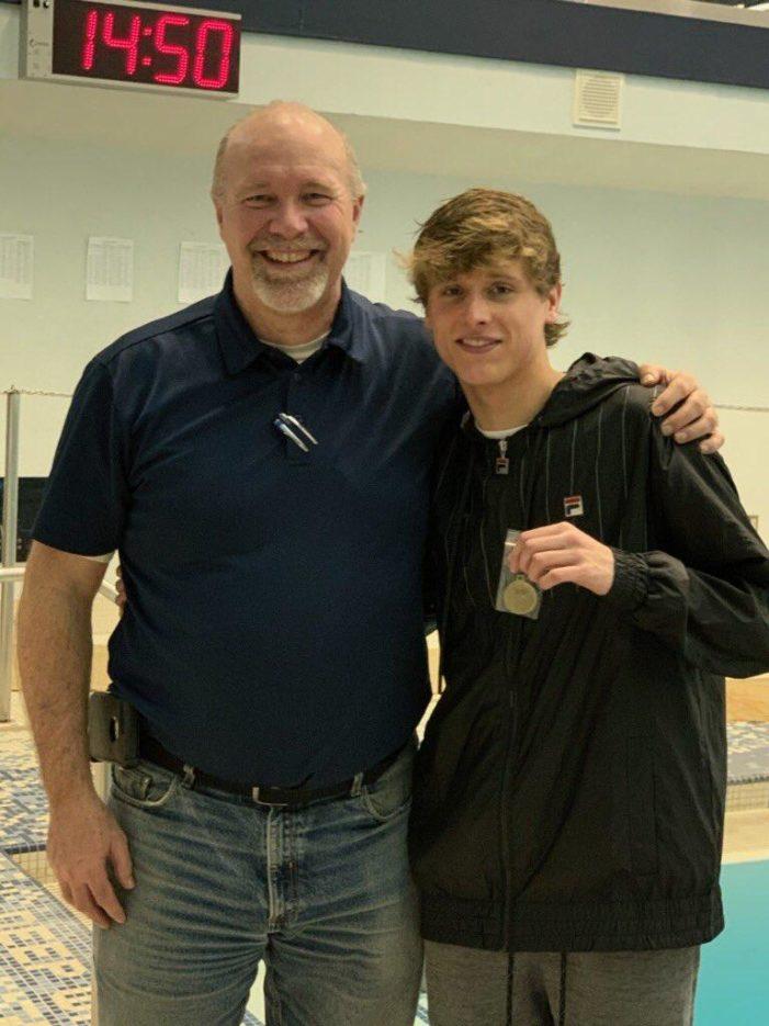 LOHS diver Alex Brent wins county diving meet