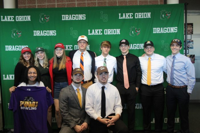 Dragon athletes sign letters of intent to play college sports
