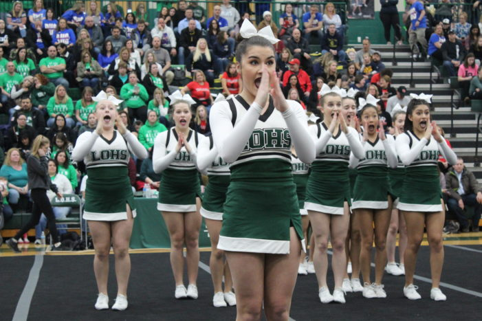 LOHS competitive cheer takes second in regional competition