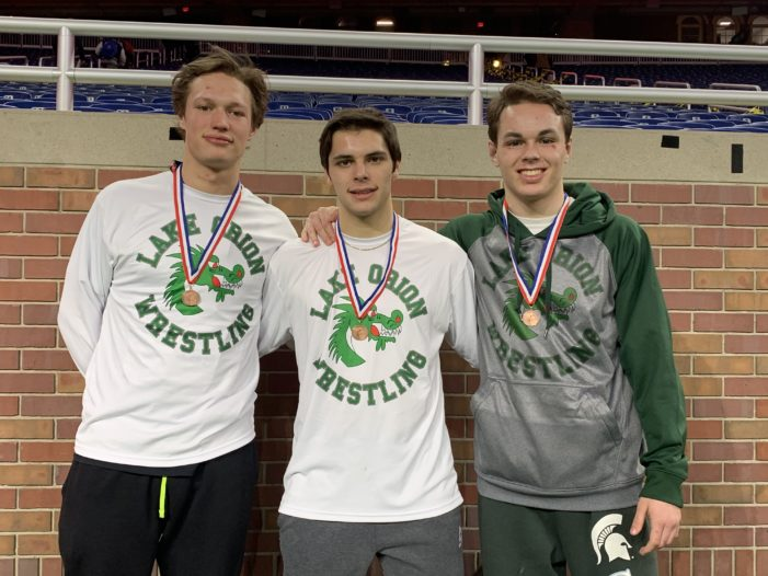 Lake Orion grapplers take on State Championship at Ford Field