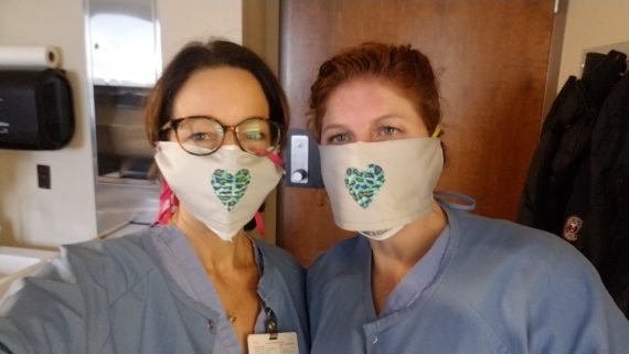 Orion seamstress makes heartfelt cover masks for healthcare workers