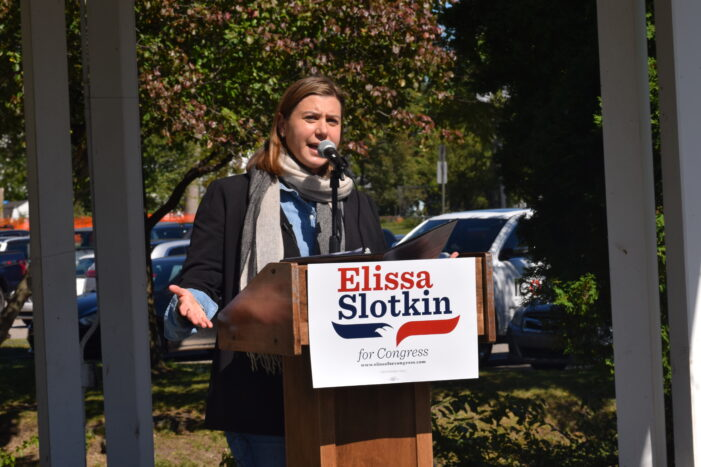 U.S. Rep. Slotkin tours Lake Orion during campaign stop on Saturday