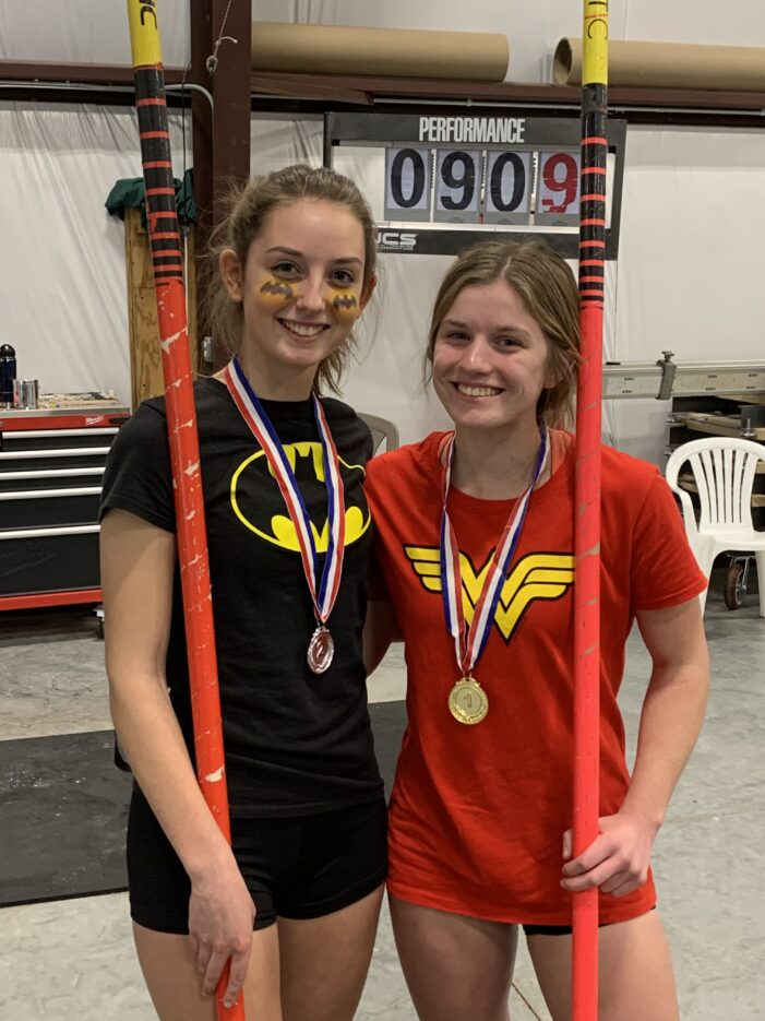 Dragon pole vaulters finish 1-2 at Halloween Vault