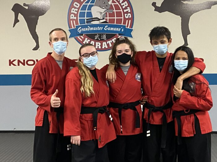 'Don't sit in the lobby': Williams family earns their karate black belts together