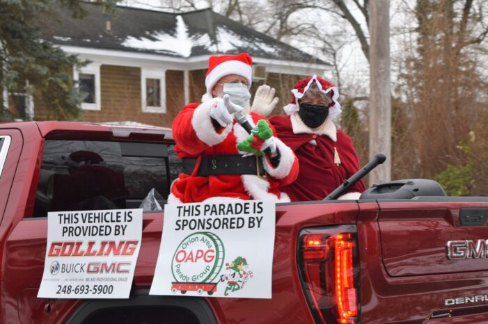 OAPG modifies a holiday tradition with a parade around the village, twp.