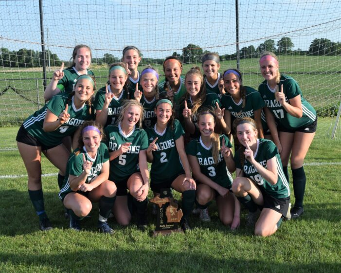Dragon girls soccer defeats Grand Blanc in OT for district title