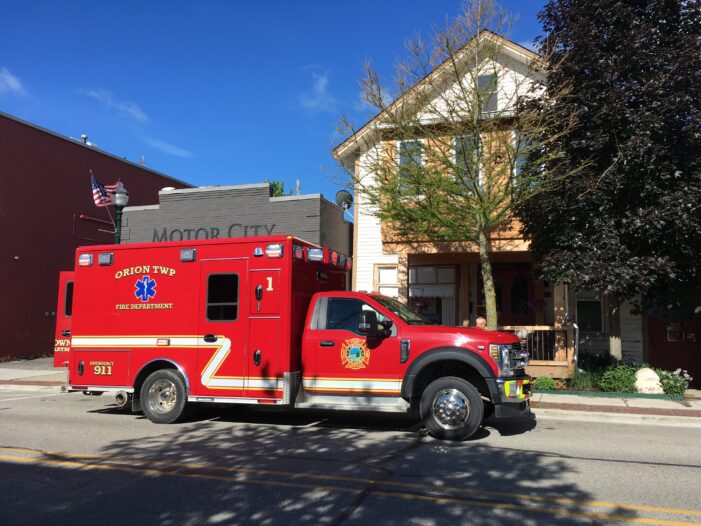 Orion Twp. Fire Dept. transitions to Advanced Life Support service