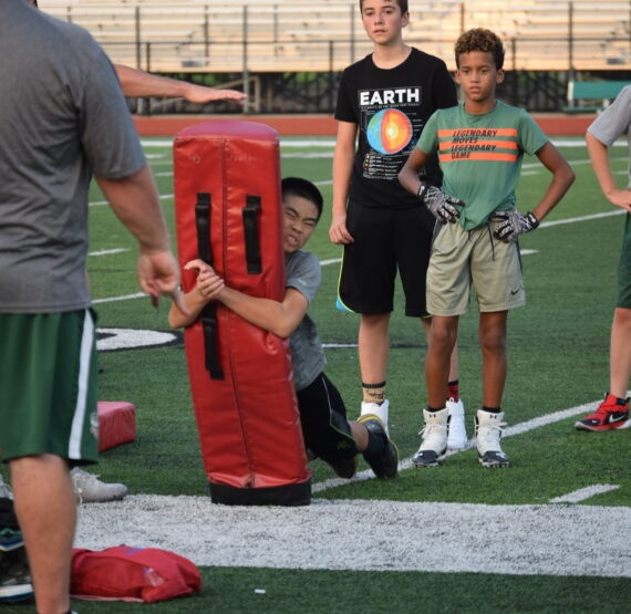 LOHS football teams are not sitting out the summer, hosting camps and stadium cleanups