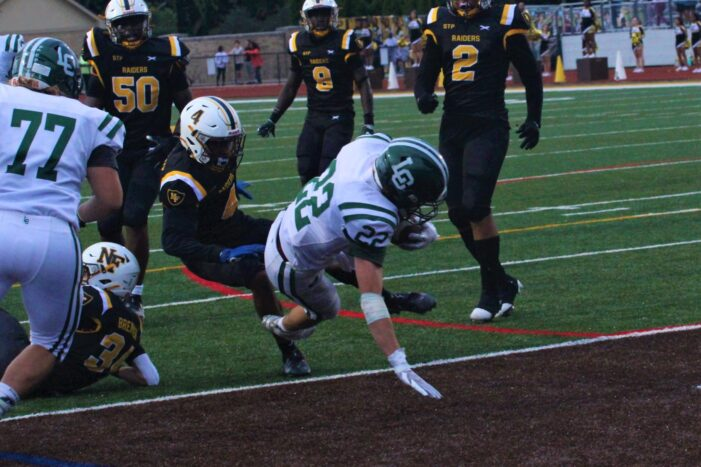 Raiders slay the Dragons in a lopsided LO football loss