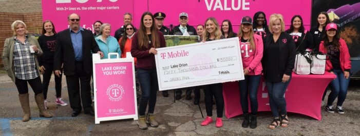 Lake Orion Parks & Rec. receives $50k T-Mobile grant for Green's Park playscape