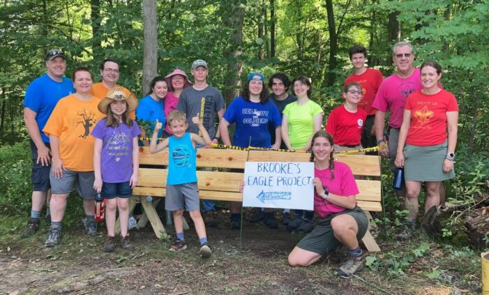 Prospective Eagle Scouts complete service projects at Agawam